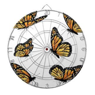 Orange Monarch Butterfly 2 Dart Boards