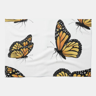 Orange Monarch Butterfly 2 Hand Towel