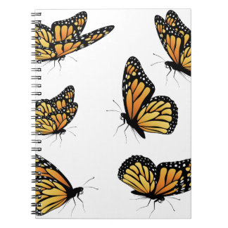 Orange Monarch Butterfly 2 Spiral Notebook