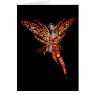 Orange Monarch Butterfly 3D Pixie - Fairy 1 Card