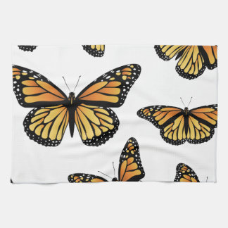 Orange Monarch Butterfly Towels