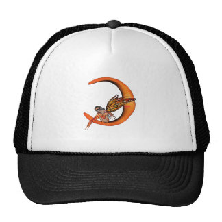 Orange Monarch Pixie Butterfly Fairy 5 - Mesh Hat