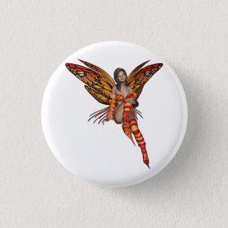 Orange Monarch Pixie Butterfly Fairy 7 - 1 Inch Round Button
