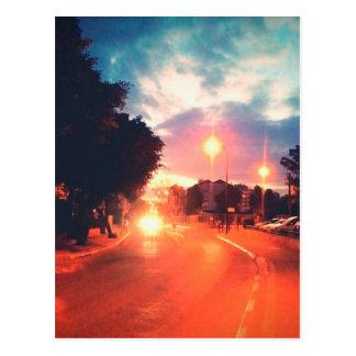 Orange morning postcard