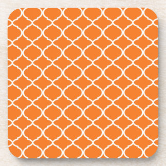 Orange Moroccan Pattern Coaster