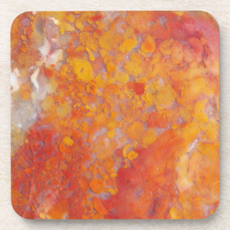 Orange Moss Agate Pattern Mexico Set Coaster