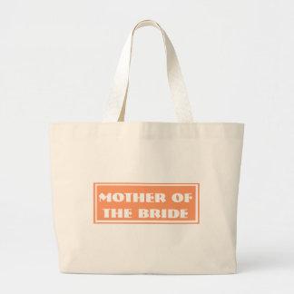 Orange Mother of the Bride Wedding Jumbo Tote Bag