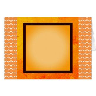 Orange Motif accent Tangerine Card