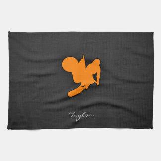 Orange Motocross Towel