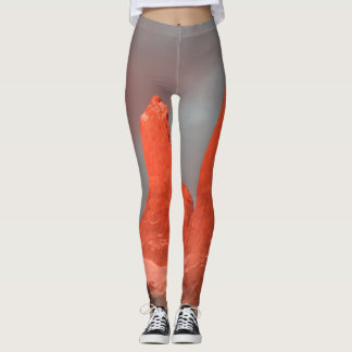 Orange mountains leggings