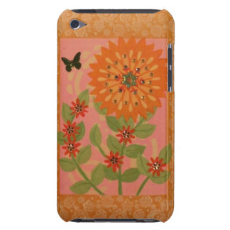 Orange Mum & Butterfly iPod Case Case-Mate iPod Touch Case