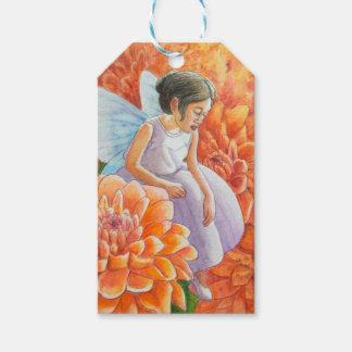 Orange Mum Fairy Gift Tags
