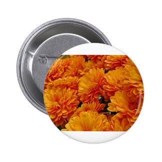 Orange Mums 2 Inch Round Button