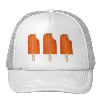 Orange n' Ice Cream Creamsicle Pops Popsicles Hat