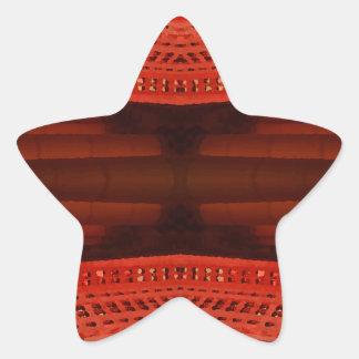 Orange NYC Landmarks Extreme Design Star Stickers
