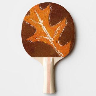 """Orange oak leaf nature print botanical nature. Ping Pong Paddle"