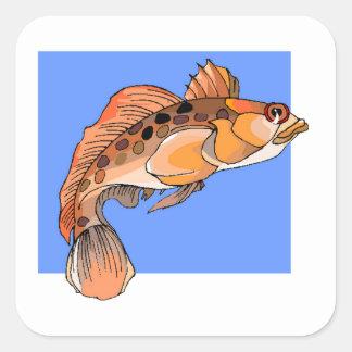 Orange Ocean Fish Stickers