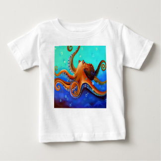 Orange Octopus Baby T-Shirt