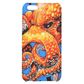 Orange Octopus Case For iPhone 5C