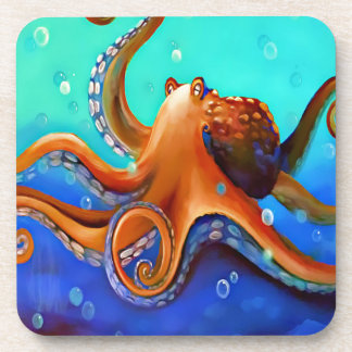 Orange Octopus Coaster