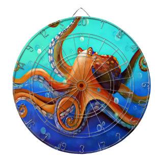 Orange Octopus Dartboard