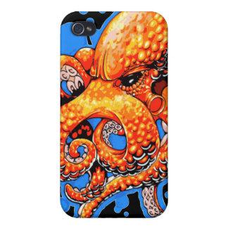 Orange Octopus iPhone 4/4S Cases