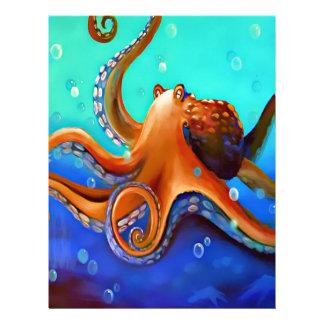 Orange Octopus Letterhead