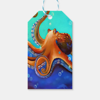 Orange Octopus Pack Of Gift Tags