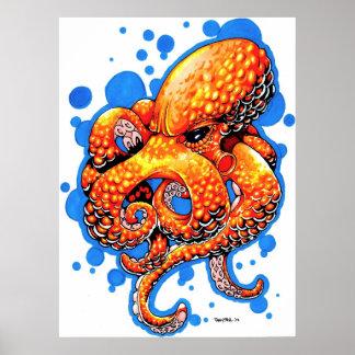 orange octopus posters