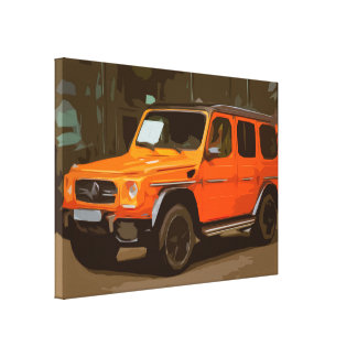 Orange Offroad Luxury SUV Car Canvas