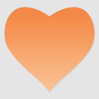 Orange Ombre Heart Sticker