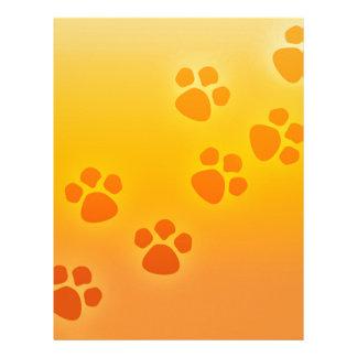 Orange Ombre Paw Print Heart - Paws Print Letterhead