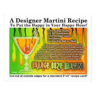 Orange Ooze Halloween Martini Recipe Postcard