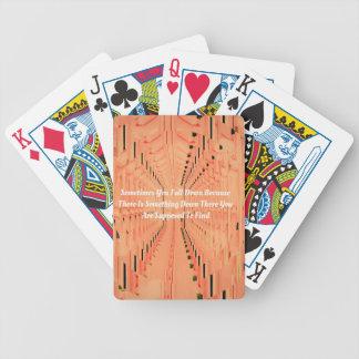 Orange Optical Illusion Tunneling With Motivation Poker Deck