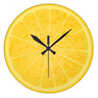 Orange or lemon slice clock