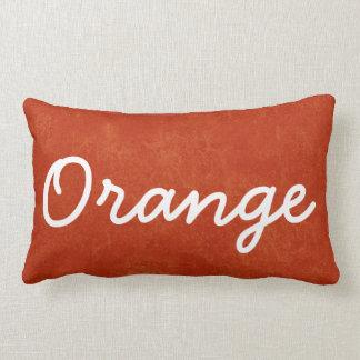 ORANGE Orange Custom Name Gift Collection Lumbar Pillow