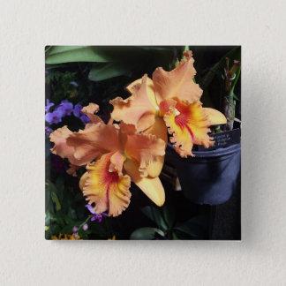 Orange Orchid Corsage Pin
