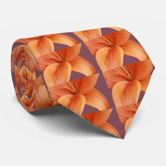 Orange Orchid Tie