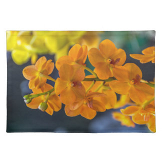 Orange orchids placemat