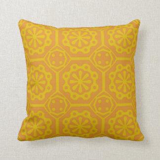 Orange Ornament Pattern Pillow