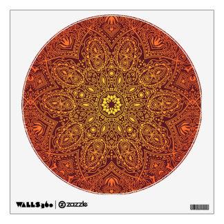 Orange Ornamental Lace Pattern Wall Sticker