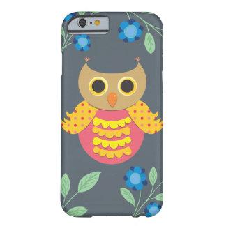 Orange Owl and Flowers iPhone 6/6s Case