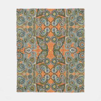 orange paisley blanket