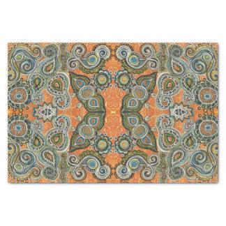 orange paisley pattern tissue paper