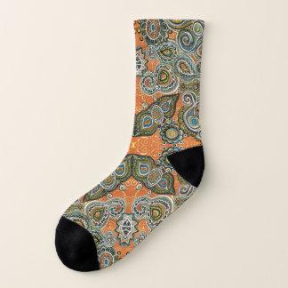 orange paisley socks 1