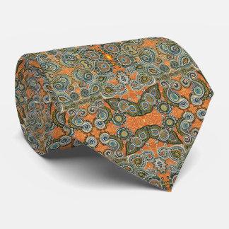 orange paisley tie