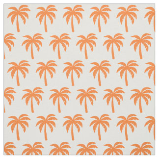 Orange Palm Tree Fabric