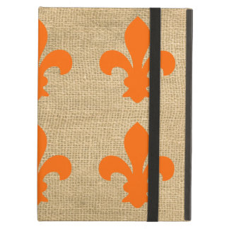 Orange Parisian Moods Fleur de Lys Pattern iPad Air Cover