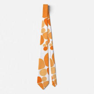 Orange party tie