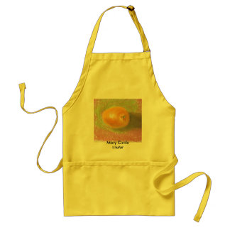 orange pastel, Mary Circle UMW apron